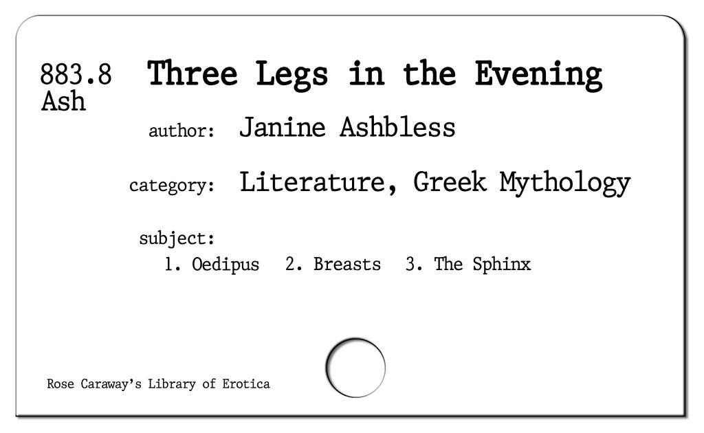 Three Legs in the Evening